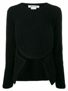 Comme Des Garçons Comme Des Garçons cut-out detail jumper - Black