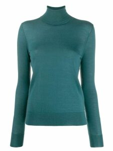 N.Peal superfine roll neck cashmere jumper - Green