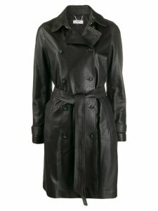 Desa 1972 belted leather coat - Black