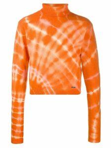 Aries cropped tie-dye jumper - ORANGE