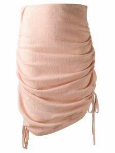 Laneus knitted draped skirt - PINK