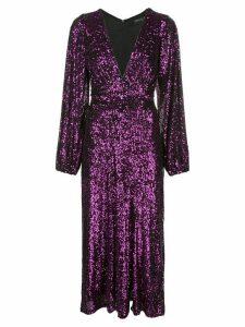 Iorane sequinned midi dress - PURPLE