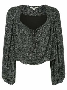 Jonathan Simkhai metallic draped blouse - Black