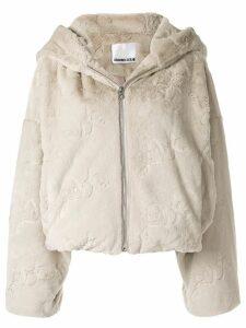 Ground Zero zip-front cropped jacket - Grey