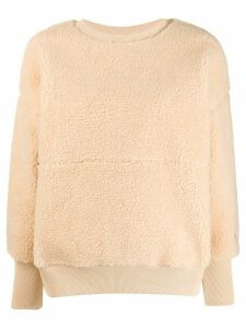 Champion faux shearling sweatshirt - NEUTRALS