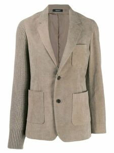 Undercover corduroy and knitted blazer - NEUTRALS