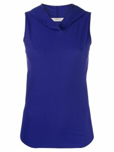 Dorothee Schumacher sleeveless jersey hoodie - Blue