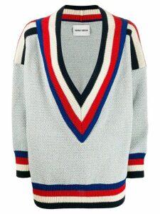 Henrik Vibskov striped trim jumper - Blue