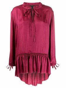 Ann Demeulemeester ruffle trim blouse - PINK