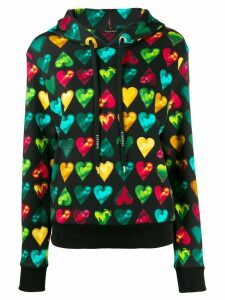 Versace Love Versace print hooded sweater - Black