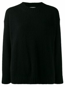 Laneus knitted crew-neck jumper - Black