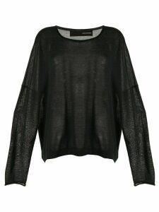 Isabel Benenato cashmere jumper - Black
