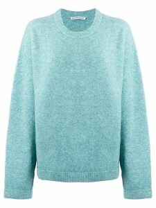 T By Alexander Wang oversized jumper - Blue