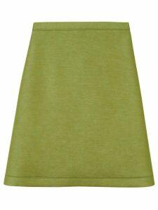 Burberry double-faced neoprene skirt - Green