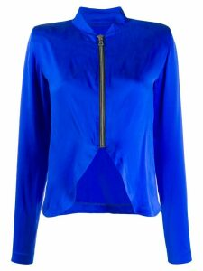 RtA zip detail blouse - Blue