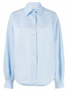 Givenchy puffed sleeves buttoned shirt - Blue