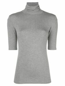 Majestic Filatures short-sleeve turtleneck jumper - Black