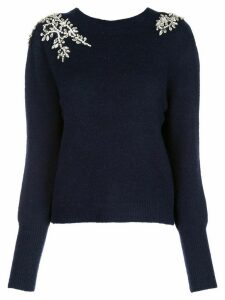 Veronica Beard Valerie crystal-embellished jumper - Blue
