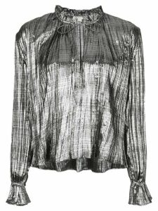 Jonathan Simkhai metallic loose-fit blouse - SILVER
