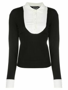 Boutique Moschino contrasting layer jumper - Black
