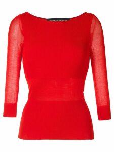 Gloria Coelho ribbed knit blouse - Red