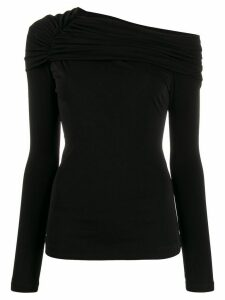 Roberto Cavalli draped neck top - Black