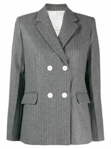 Sandro Paris double breasted stripe blazer - Grey