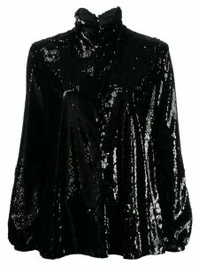 Racil sequin roll neck top - Black