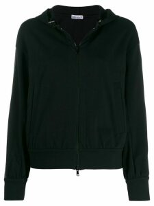 Brunello Cucinelli beaded stripe zip-up hoodie - Black