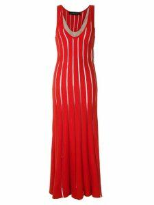 Gloria Coelho panelled knit dress - Red