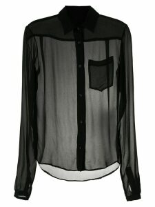 Amir Slama silk shirt - Black