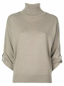 Brunello Cucinelli roll-neck cashmere jumper - Brown