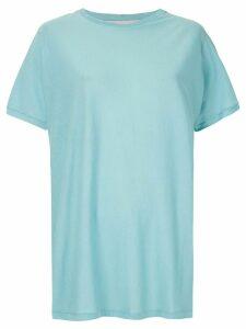Gloria Coelho ribbed plain T-shirt - Blue