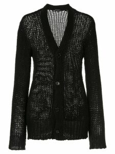 Ann Demeulemeester fitted V-neck cardigan - Black
