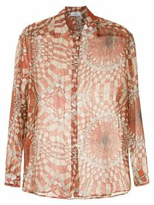 Amir Slama printed silk shirt - Red
