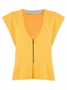 Gloria Coelho knit vest - Yellow
