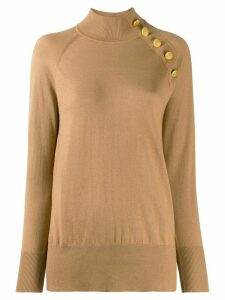 Snobby Sheep roll neck fine knit jumper - NEUTRALS