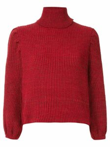 Framed knit cropped top - Red