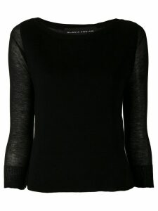 Gloria Coelho knitted blouse - Black