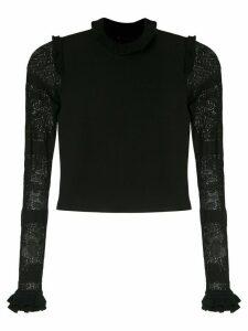 Andrea Bogosian Penelope knit blouse - Black
