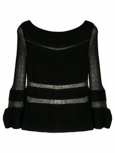 Gloria Coelho knitted blouse - Black