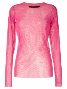 Gloria Coelho tulle sheer blouse - PINK