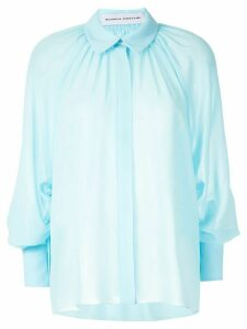 Gloria Coelho pleated shirt - Blue
