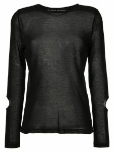 Gloria Coelho cut out details knit blouse - Black