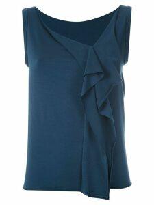 Gloria Coelho drape tank - Blue