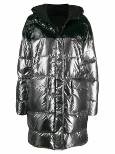 Pinko two-tone padded coat - SILVER