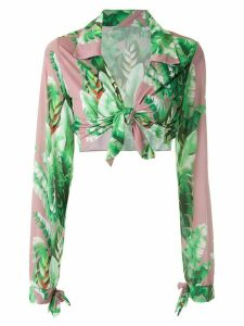 Amir Slama printed crop top - Green