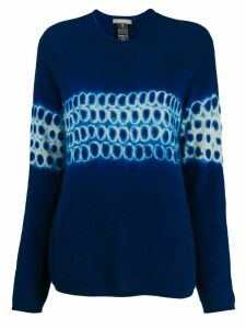 Suzusan cashmere abstract-pattern jumper - Blue