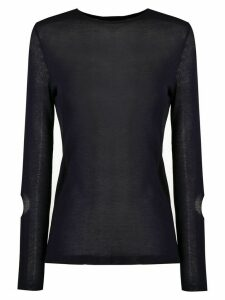 Gloria Coelho long sleeved knit blouse - Blue