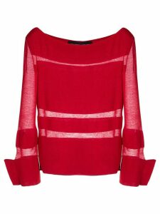 Gloria Coelho knitted blouse - Red